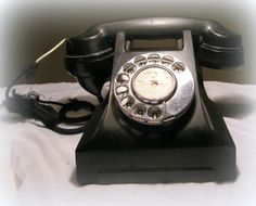 Vintage Bakelite Rotary Telephone – for display only by:-SuesUpcyclednVintage
