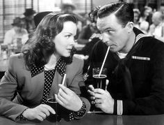 """Kathryn Grayson and Gene Kelly in """"Anchors Aweigh"""" (1945)"""