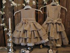 Rustic flower girl dress. Other similar colours and styles available.