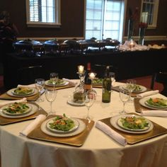 The Rose's 20th Anniversary tables.