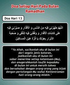 Doa hari 13 Ramadhan