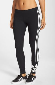 adidas Originals '3-Stripes' Stretch Cotton Leggings available at #Nordstrom