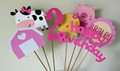 Hey, I found this really awesome Etsy listing at http://www.etsy.com/listing/126297526/7-piece-girl-farm-centerpiece-set-baby