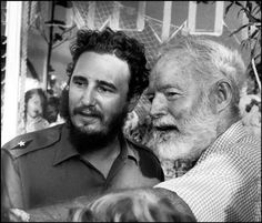 """1960: Fidel Castro and Ernest Hemingway during """"The Ernest Hemingway Fishing Competition"""