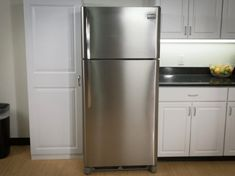 Our stainless steel Fridge Fronts, as seen on Shark Tank, are the best solution for decorating your home kitchen fast & cheap. Better than Vinyl film wraps! Stainless Steel Contact Paper, Steel Fridge, Stainless Steel Panels, Refrigerator Magnet Cover, Refrigerator Covers, Stainless Steel Refrigerator, Stainless Steel Sheet, Appliance Covers, Stainless Steel Fridge