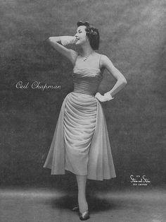 A captivatingly lovely 1950s Ceil Chapman dress.
