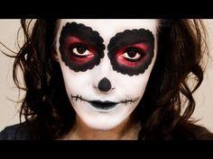 Maquiagem Halloween Caveira Mexicana