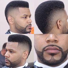 Fade With Anchor Beard & Moustache