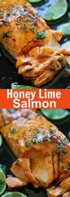 Honey Lime Salmon – sweet and zesty salmon with honey, lime juice and soy sauce. Takes 15 mins and great for tonight's dinner   rasamalaysia.com