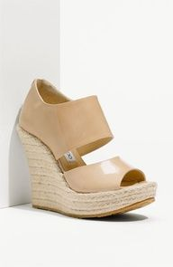 This spring's must have shoe of the season is the rope soled heel! Whether a pump, a wedge or a platform, ride the rope wave this spring! Jimmy Choo 'Patriot Pat' Platform Espadrille