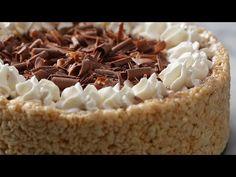 Crispy Rice Cereal Chocolate Cheesecake.
