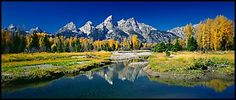 Grand Teton National Park may share a border with Yellowstone, but the two parks might as well be worlds apart. Yellowstone is known for its geothermal natural w Us National Parks, Grand Teton National Park, Vacation Destinations, Vacation Spots, Vacation Ideas, Vacations, Monuments, Land Scape, Beautiful Landscapes