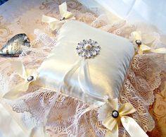 Jennifer ivory satin deluxe ring bearer's by GaffneyGirlStudio,
