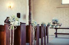 Non-gaudy aisle decor Chapel Wedding, Wedding Ceremony, Our Wedding, Chic Wedding, Wedding Stuff, Wedding Hair Flowers, Flowers In Hair, October Wedding, Spring Wedding