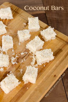 Coconut Bars are tasty little vegan treats filled with healthy coconut goodness |  Life Currents  paleo  http://lifecurrents.dw2.net