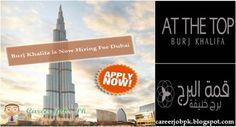 Jobs in Burj Khalifa Dubai 2015
