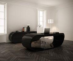 Design at Work: Sleek, Sophisticated Executive Office Desk | Designs & Ideas on Dornob