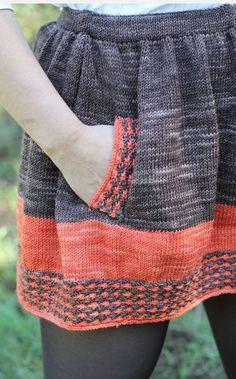 Knitting pattern for New Girl Skirt