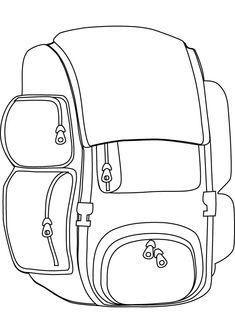 sleeping bag coloring pages - photo#22