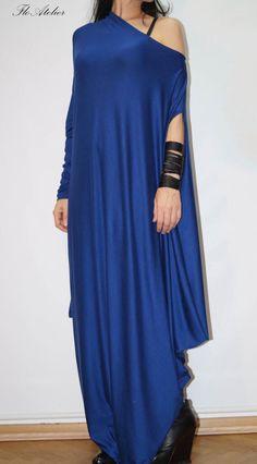 Royal Blue Asymmetrical Tunic/Long Sleeve Kaftan/Oversized Dress/Maternity Dress/Fashion Dress by FloAtelier/F1241 by FloAtelier on Etsy https://www.etsy.com/uk/listing/197362943/royal-blue-asymmetrical-tuniclong-sleeve