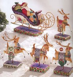"Now, Dasher! Now, Dancer! Now, Prancer, and Vixen!  ""On, Comet! On, Cupid! On, Donner and Blitzen!"