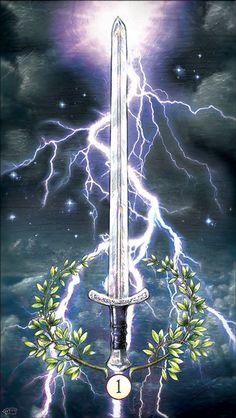Ace of Swords from the gentrysmith tarot