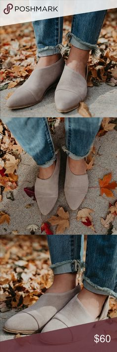 Taupe Suede Cut Out Flats Cut out faux suede flats in taupe.  Runs true to size. Brand new in box Shoes Flats & Loafers