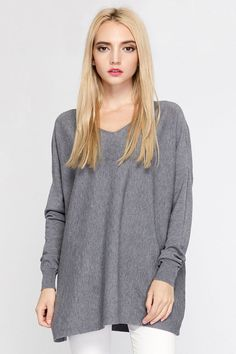 7224ff85dcd0 Ellady Grey V Neck Casual Knitwear. Ryeon Pullover Women Sweater Female  Poncho Autumn Winter Spring Casual Grey White Sexy V Neck Loose Fashion  Oversized ...