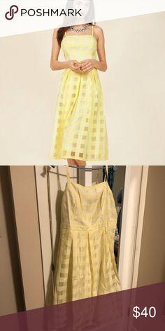 Modcloth Sweet Sunday Dress 2X NWOT Modcloth Sweet Sunday Dress in Buttercup size 2X NWOT, semi formal Modcloth Dresses Midi