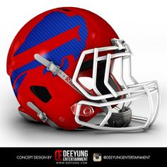 The NFL is always looking for ways to evolve and create a new and exciting look for their teams while also maintaining the heritage of these storie. New Nfl Helmets, College Football Helmets, Buffalo Bills Football, Nebraska Football, Football Team, Nfl Bills, 32 Nfl Teams, American Football League, Sports Helmet