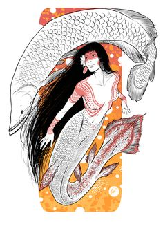 The mermay already over but I think it's okay if I post another one, right? This time I decided to do a Brazilian mermaid, the Iara from amazonian waters.