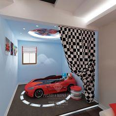 Фото интерьера детской комнаты для мальчика в ярких цветах