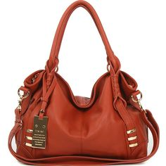 28c937336b86 Details about New leather HandBag Shoulder Women bag brown black hobo tote  purse designer l189