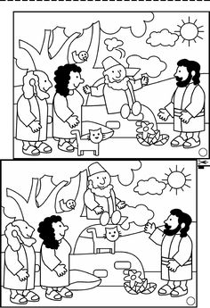 Free Coloring Pages Of Story Zacchaeus Sketch Coloring