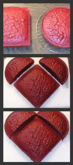 Heart shaped cake without the heart shaped pan
