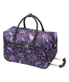 Love this Purple Paisley Mar Vista 20'' Rolling Duffel on #zulily! #zulilyfinds
