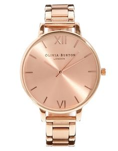 Olivia Burton – big dial Roségold watch, Asos