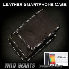 Leather Samsung GALAXY Note 2/3 Case : WILD HEARTS Leather&Silver  http://item.rakuten.co.jp/auc-wildhearts/sc1943r51/