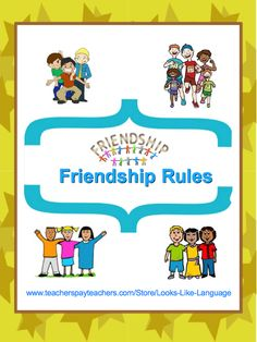 Friendship Rules-No bullying! Fun games and varied worksheets to bring diverse groups together and learn how to be nice to each other!