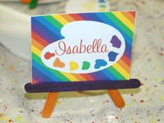 Easel Placecards, perfect for an art party!