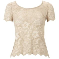 Lipsy Allover Lace Blouse - Polyvore