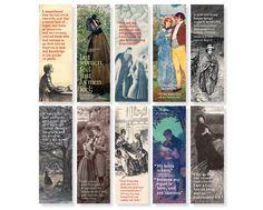 Jane Eyre bookmark by JaneEyreCollection on Etsy Bronte Sisters, Fanart, Jane Eyre, Real Life, Literature, Cinema, Bookmarks, Illustration, Prints