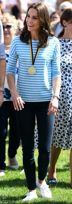 Duchess Kate: Kate Goes for Gold in Jenny Packham & Hugo Boss Stripes for Day in Heidelberg!
