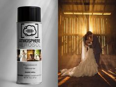 Atmosphere Aerosol Spray -  is Like a Tiny Fog Machine for Your Camera Bag. It's safe, non-toxic, and clear. $12 a can.