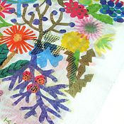 transparent color pattern on hanky. by kozue hibino.