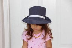 Baby Hat Navy with White Polk Dots Toddler Hat. by SouthernA, $22.00