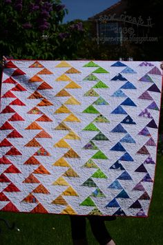 FREE pattern: Rainbow Migrating Geese Quilt (from Sew Create It ... : migrating geese quilt pattern - Adamdwight.com