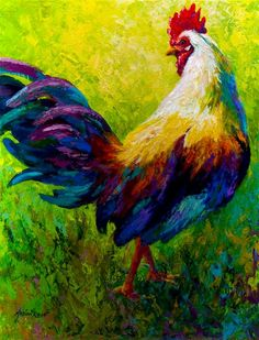 Ceo Of The Ranch - Rooster Canvas Print / Canvas Art by Marion Rose