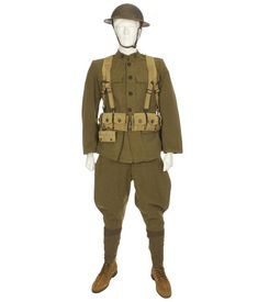 Trousers Green Hat WW1 Soldier Costume with Jacket COST-UNI NEW UK IMPORT
