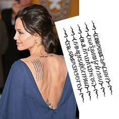 Angelina Jolie con nuevo tatuaje